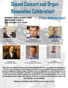 GOSPEL CONCERT & ORGAN RENOVATION CELEBRATION!
