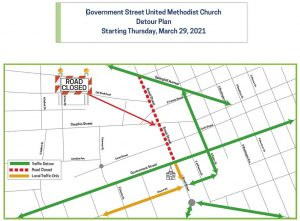 Detours for the Broad Street Closures